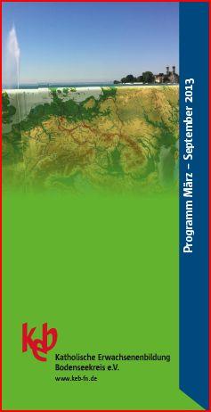 Bild:Das Programm März bis September 2013 ist da!